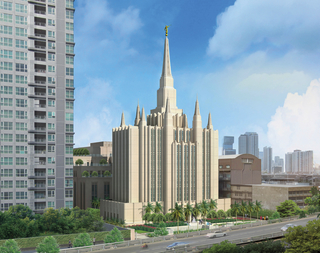 A rendering of the temple in Bangkok, Thailand.