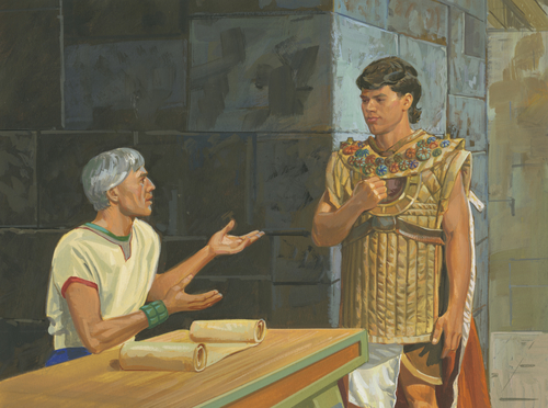 governor talking with Moroni