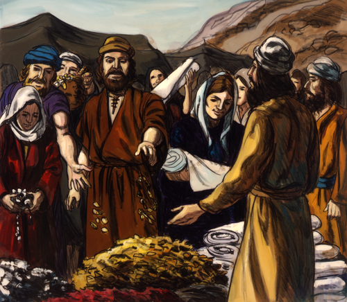 Israelites giving offerings