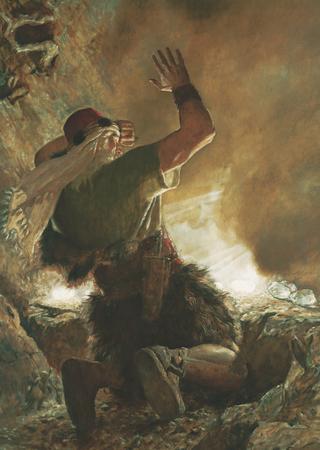 O Irmão de Jarede Vê o Dedo do Senhor (O Irmão de Jarede Vendo o Dedo do Senhor)