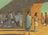 Nephites taking wine to guards