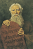Moses with stone tablet