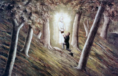The Angel Moroni Delivering the Plates to Joseph Smith
