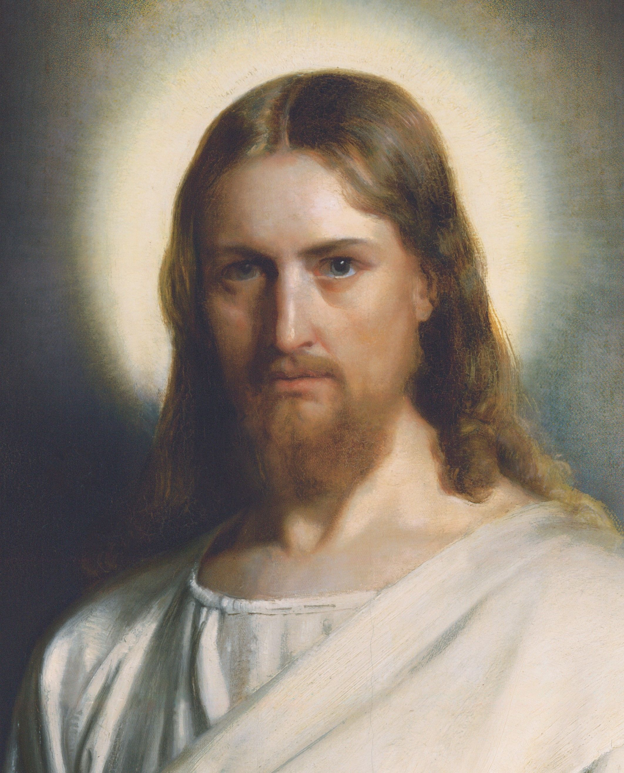 Detail from the painting Christ and the Young Child, by Carl Heinrich Bloch