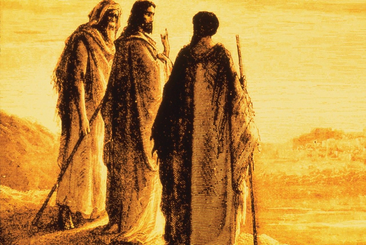 Jesus and the Disciples Going to Emmaus, by Paul Gustave Doré