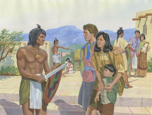 Lamanites capturing people