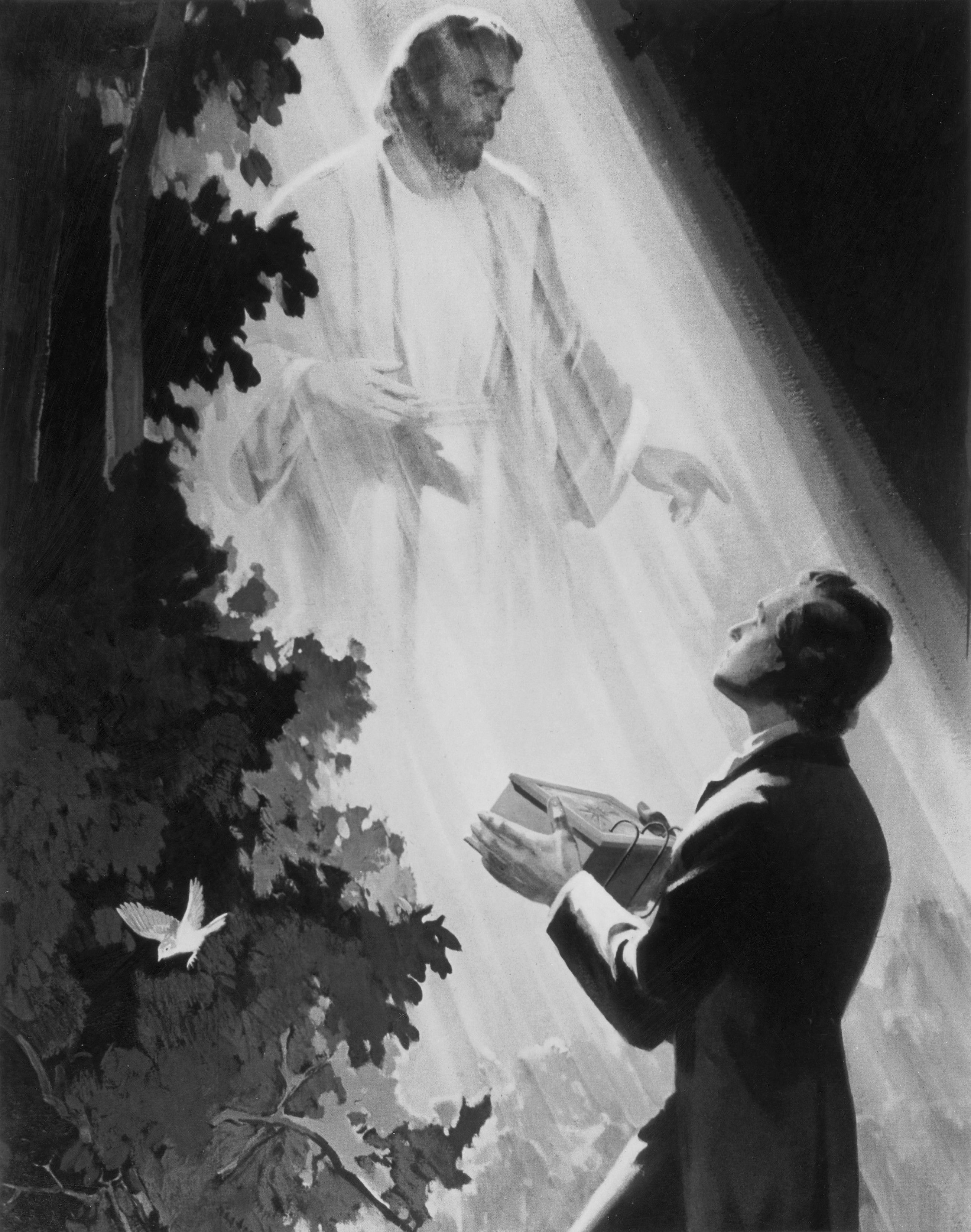 Joseph Smith Receives the Golden Plates, by Edward T. Grigware