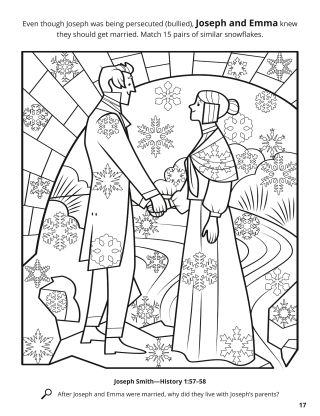 Joseph and Emma coloring page