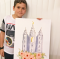 Salt Lake Temple drawing / Young Boy