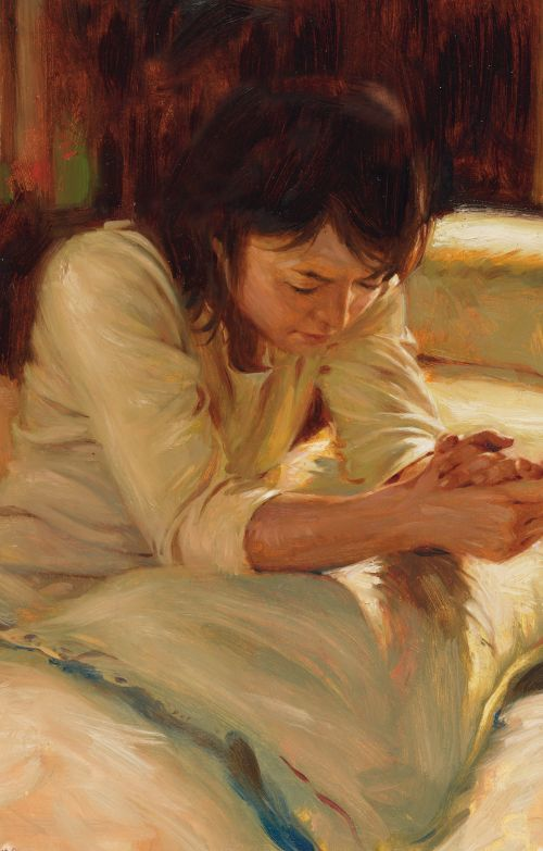 """A Gift Worthy of Added Care- """"Prayer"""" by Walter Rane"""