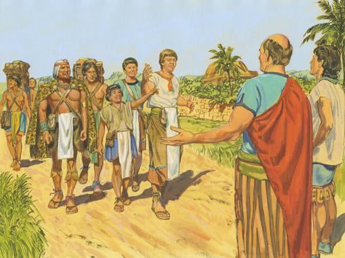 people of Ammon and Nephites of Zarahemla