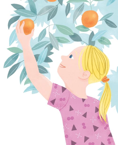 One Peach at a Time Illustration