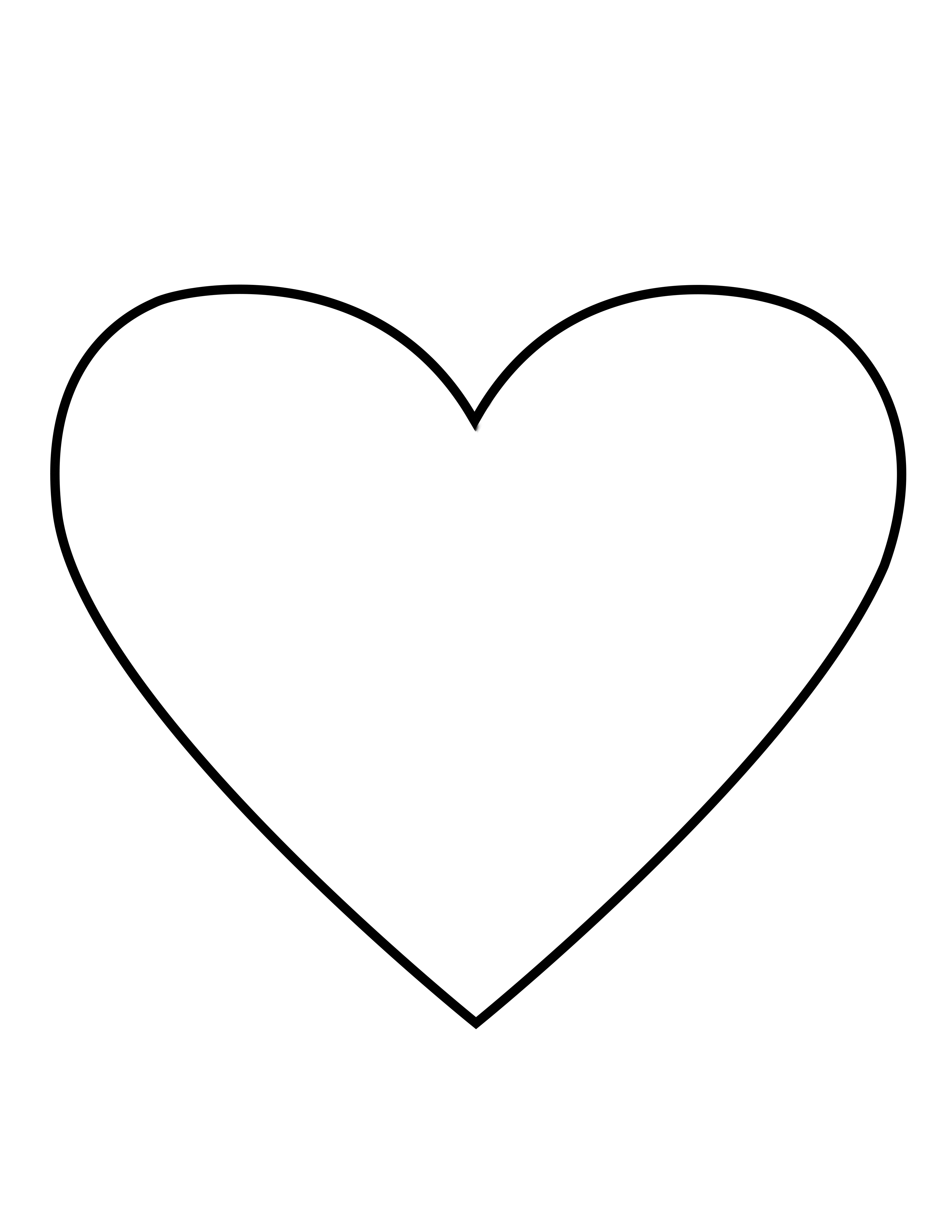 A line drawing of a heart from the nursery manual Behold Your Little Ones (2008), page 31.