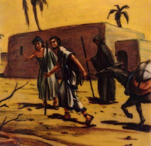 Abraham and Sarah entering Egypt