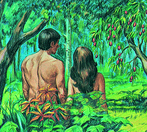 Adam, Eve, and trees
