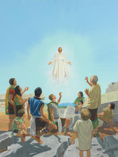 Jesus among the people