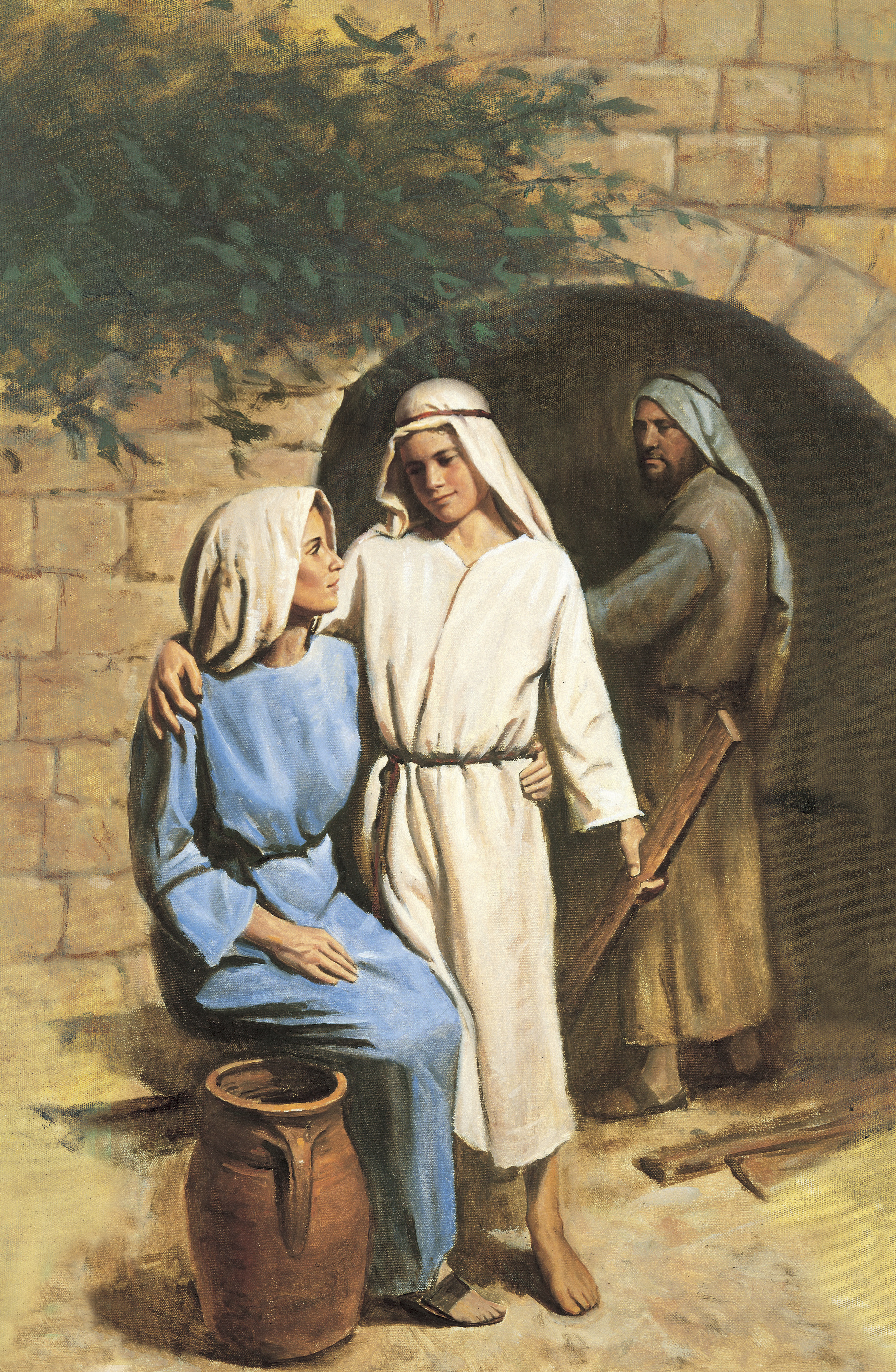 Jesus and His Mother, by Del Parson: GAK 242; Isaiah 7:14; Matthew 2:13; Joseph Smith Translation, John 2:4 (in John 2:4, footnote a); John 19:26–27; 1 Nephi 11:18–20; Mosiah 3:8; Alma 7:10