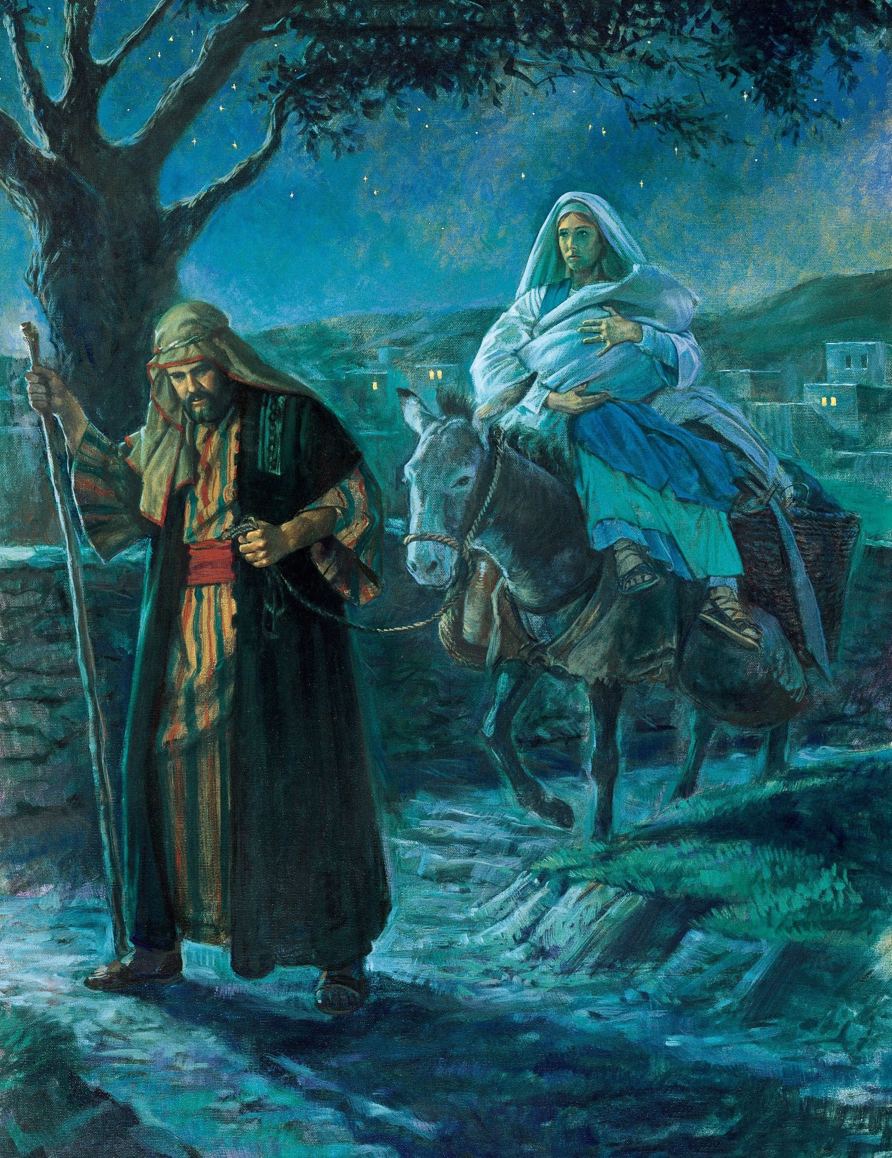 Flight into Egypt, by Robert T. Barrett (62119); GAK 204; Primary manual 2-08; Matthew 2:13–15, 19–23