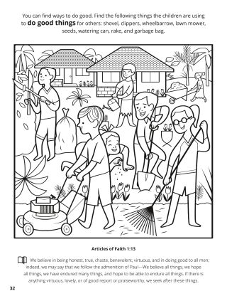 Thirteenth Article of Faith coloring page