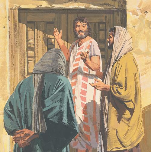 Apostles at a door