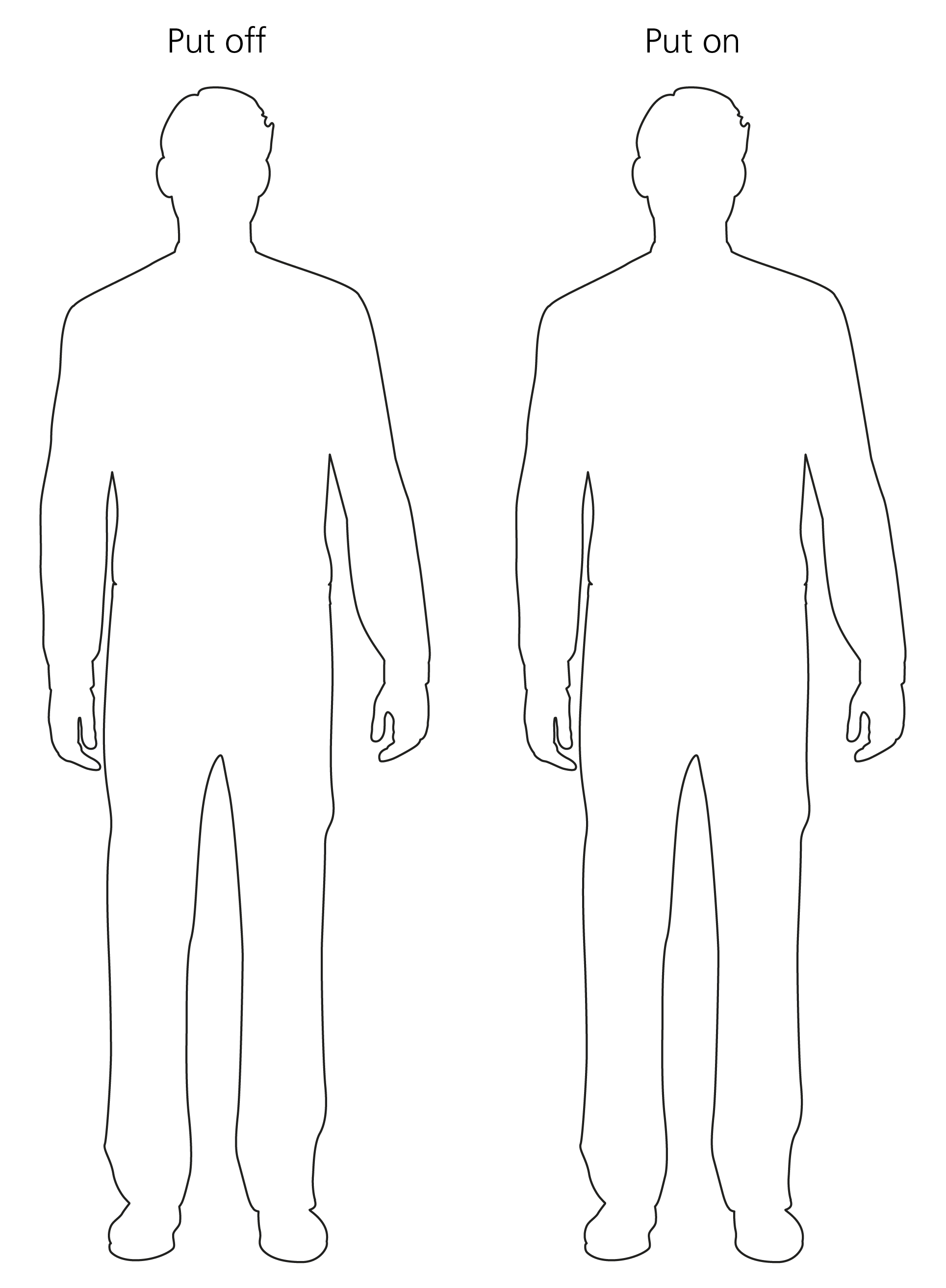 drawing, 2 person outlines
