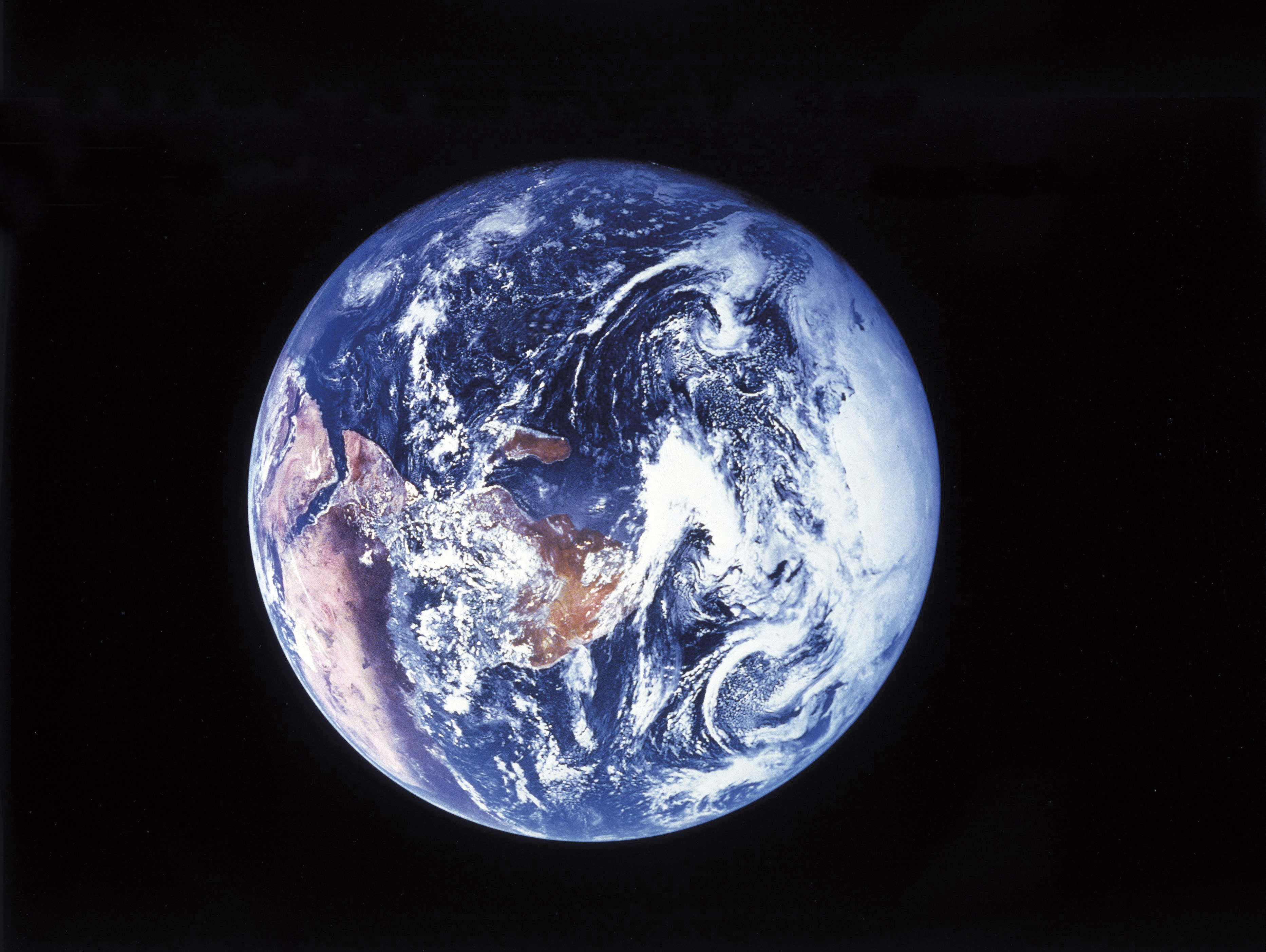 The planet earth as seen from space.