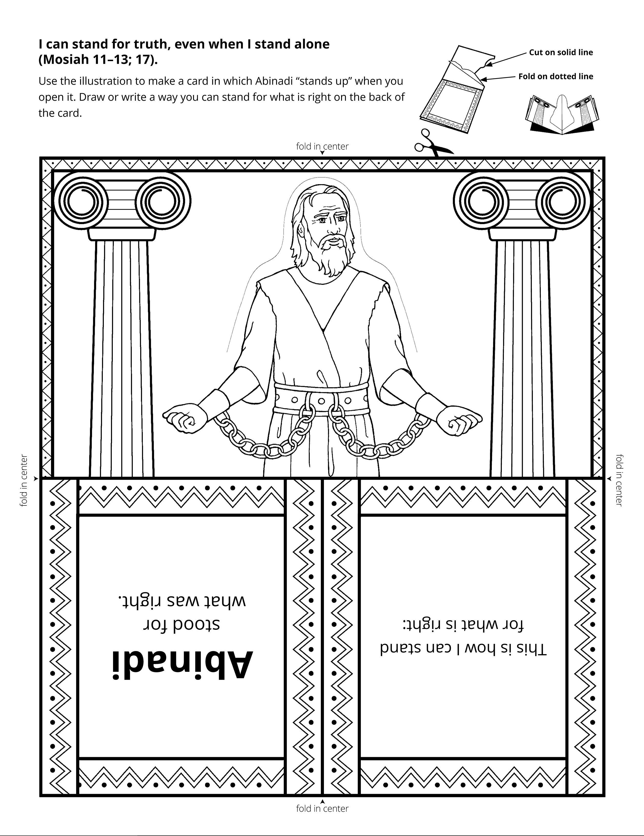 A line-art illustration of Abinadi.