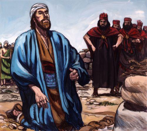 Elijah praying