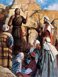 John Preaching in the Wilderness, by Del Parson