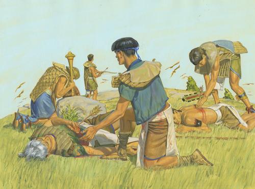 Nephites dying