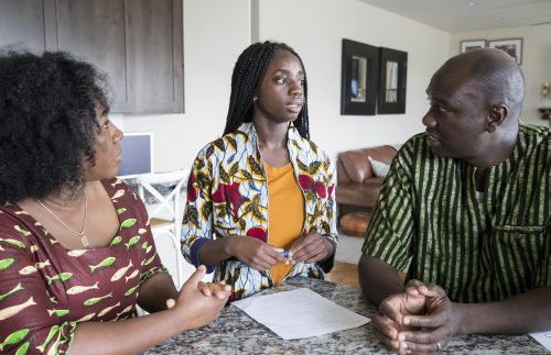 Ghanaian Family at Home: Children and Youth Development Training
