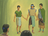three disciples being taken to heaven