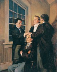 Joseph Smith Ordaining Parley P. Pratt as an Apostle