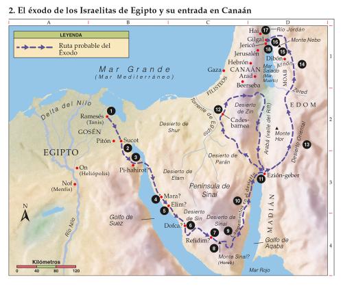 2 El éxodo De Los Israelitas De Egipto Y Su Entrada En Canaán