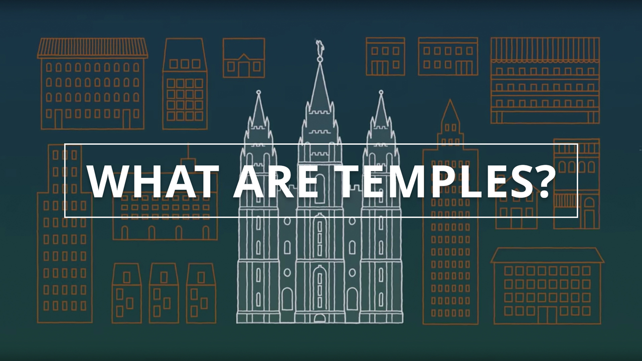 The Salt Lake Temple in the video What Are Temples
