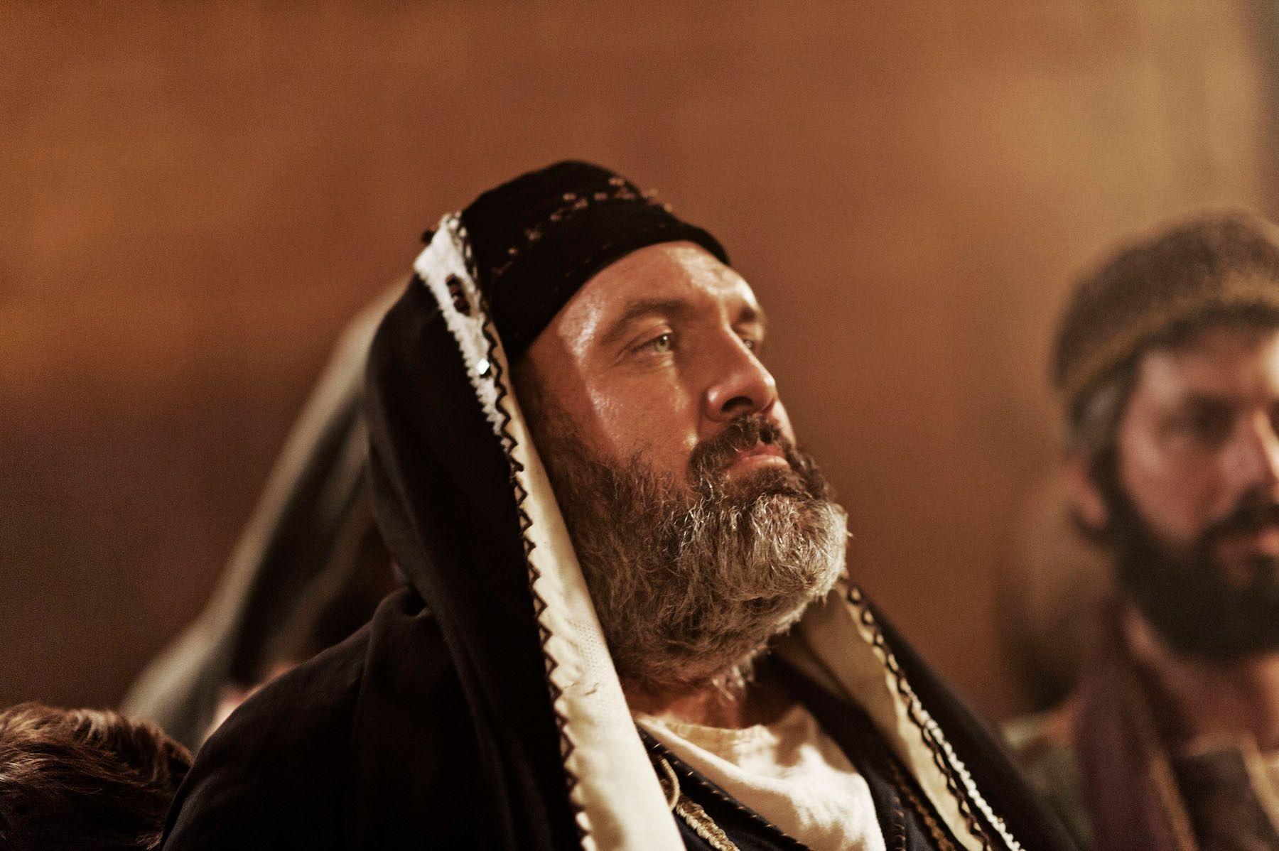Caiaphas judges Christ.
