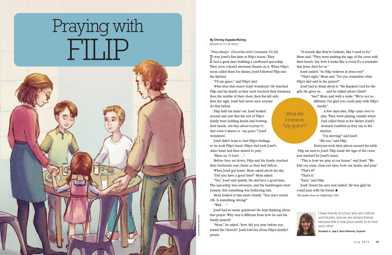 Praying with Filip