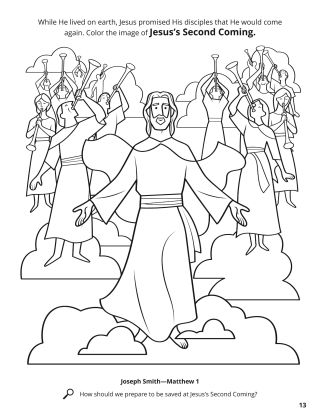 Jesus's Second Coming coloring page
