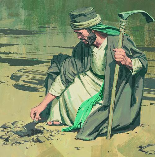 man burying money
