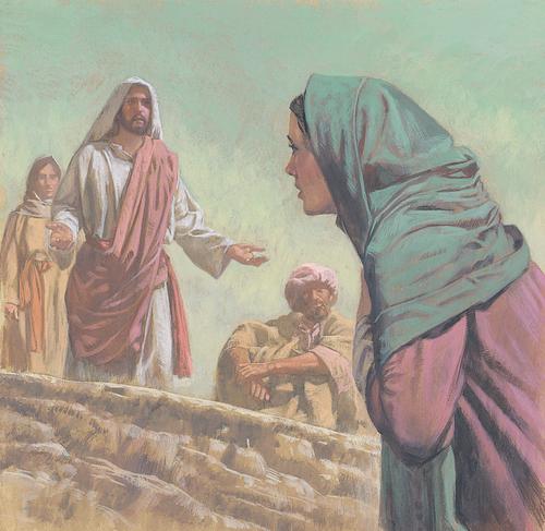 Jesus talking to Martha