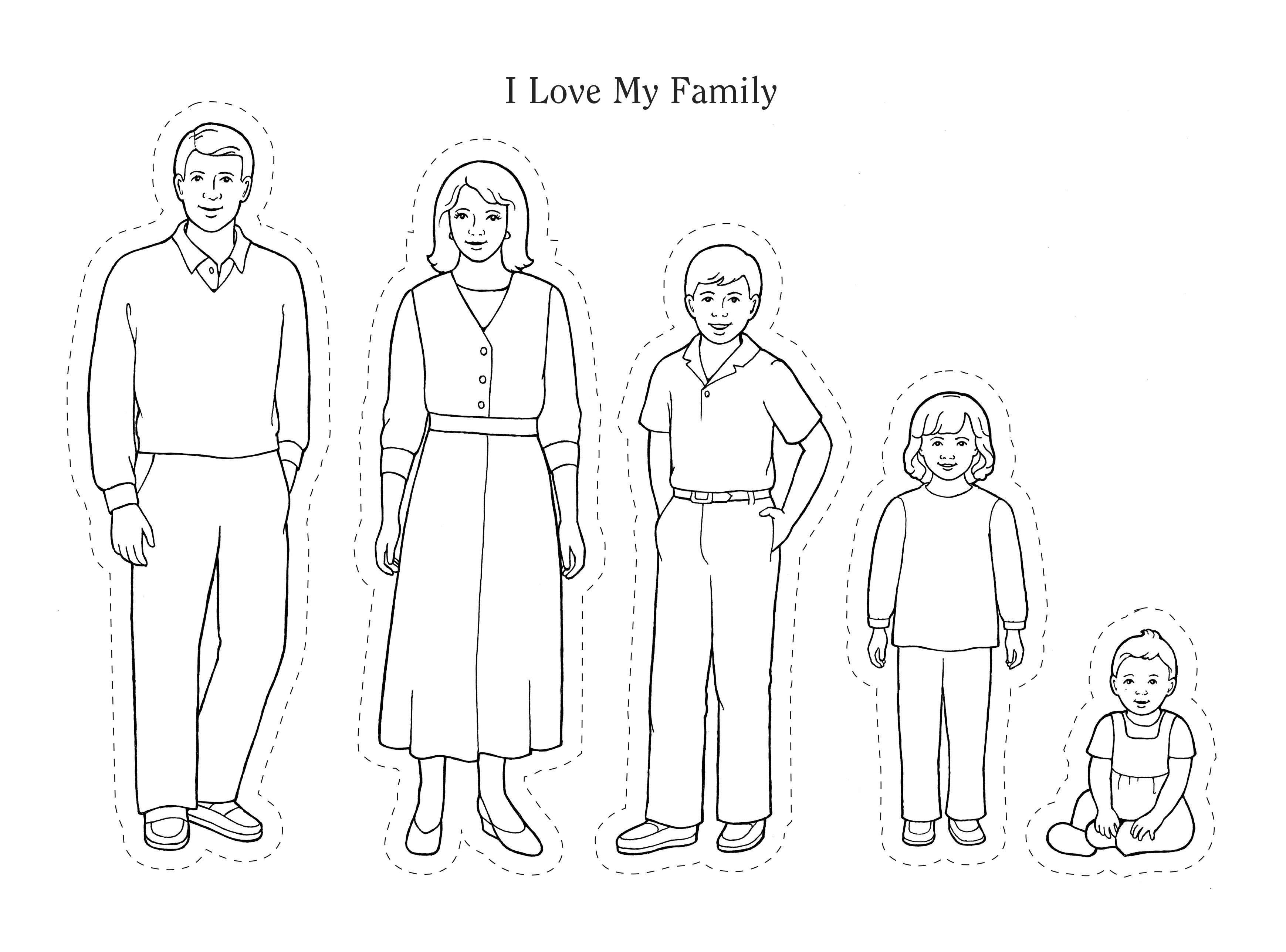 An illustration and activity from lesson 11, page 51 in the nursery manual Behold Your Little Ones (2008).