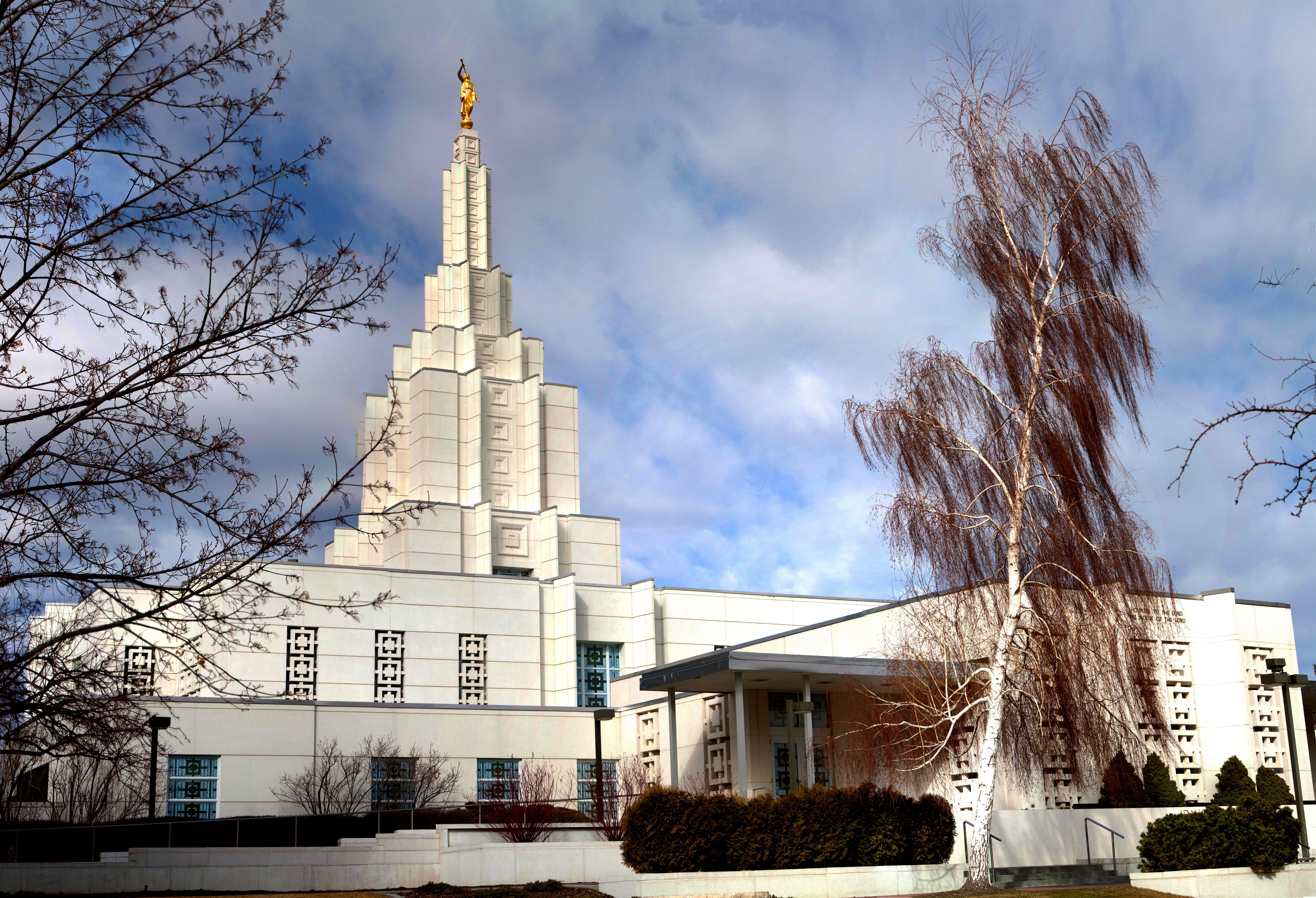Entrance to the Idaho Falls Idaho Temple.