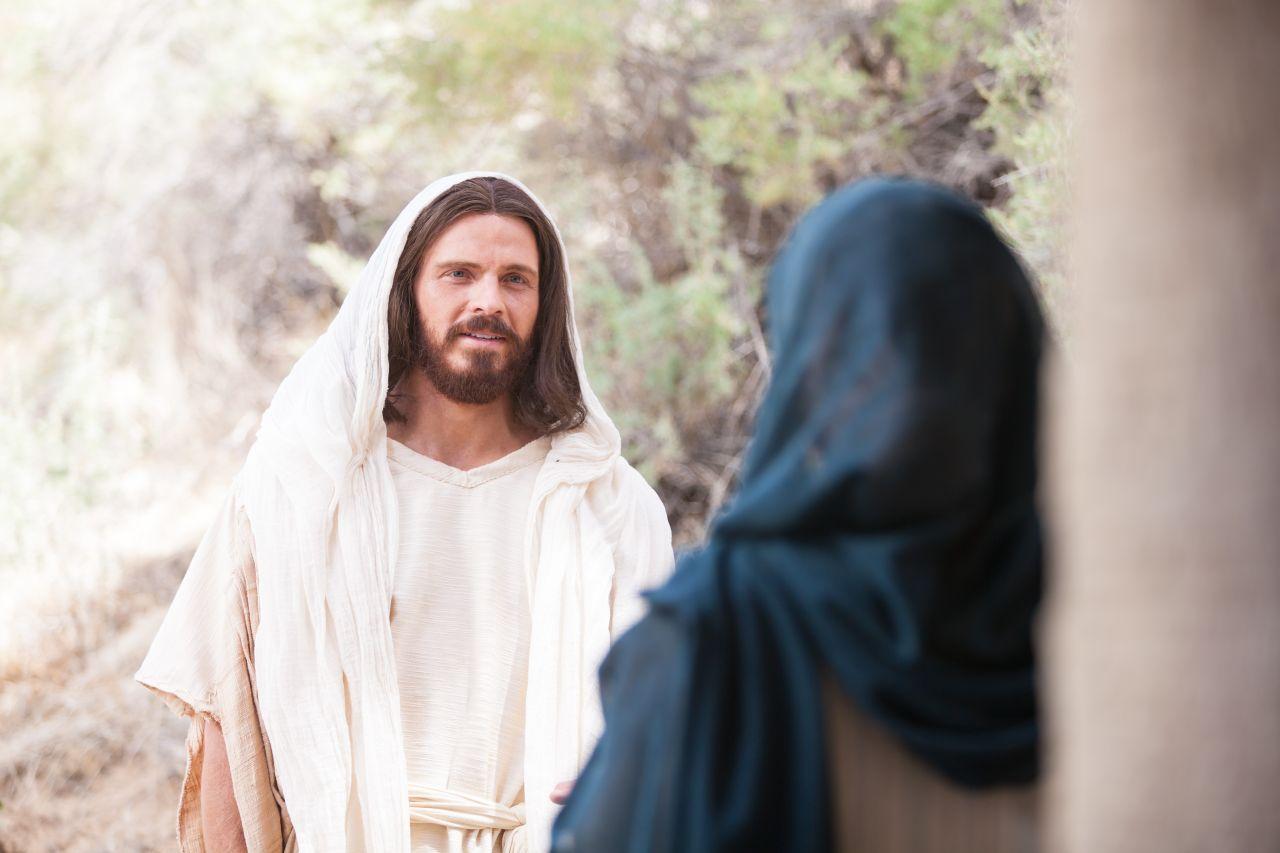 Jesús habla con María Magdalena después de resucitar