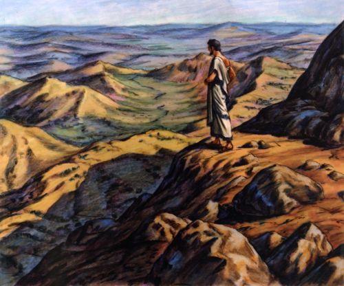 Abraham overlooking promised land