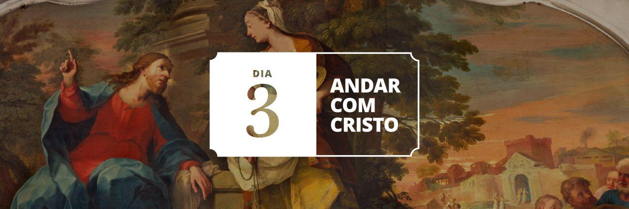 Painting of Jesus talking to a Samaritan woman