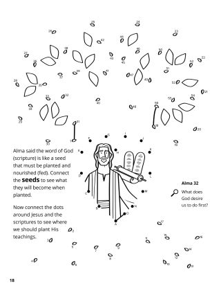 Alma Compared the Word to a Seed coloring page