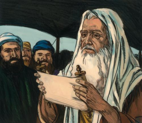 Moses teaching commandments