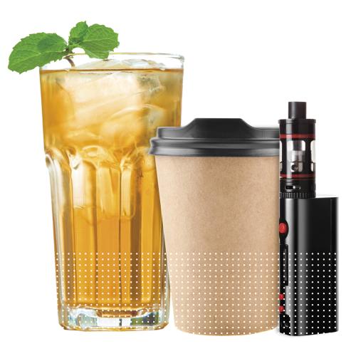 Ice tea, coffee, electronic smoking