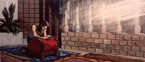 Solomon praying