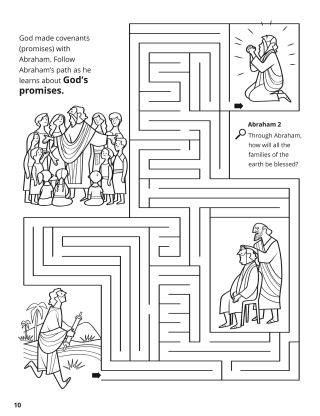 The Abrahamic Covenant coloring page